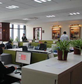 凯乐弗碳带品牌的业务部办公区